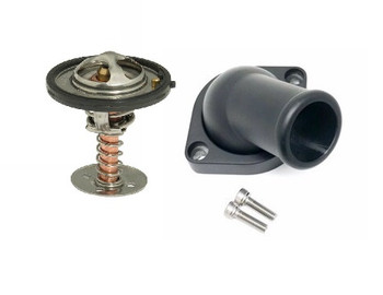 LSXceleration GM LS Swivel Water Neck & 160 Degree Thermostat Kit 16-2670BK-KIT