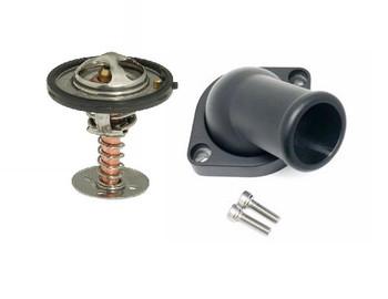 LSXceleration GM LS Swivel Water Neck & 160 Degree Thermostat Kit 16-2670BK-KIT