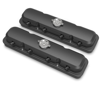 Holley LS 2-Piece Pontiac Style Valve Covers - Satin Black 241-192
