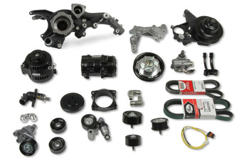 Holley LT4 Dry Sump Mid Mount Accessory Drive System 20-221BK - Black