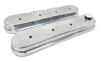 LSXceleration LS Tall Valve Covers w/ Milled Logo, Polished 15-9300