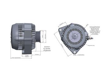 Holley Premium Alternator with 150 Amp Capability - Polished 197-304