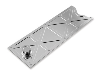 Holley GM LS1/LS6 Trussed Valley Cover with Oil Fill - Polished 241-368