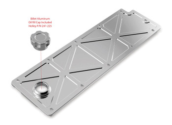 Holley GM LS2/LS3/LS7/LSX Trussed Valley Cover with Oil Fill - Polished 241-361