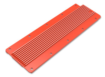 Holley GM LS2/LS3/LS7/LSX Finned Valley Cover - Orange 241-271