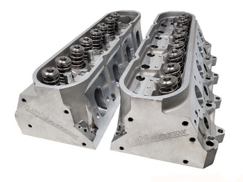 """LSXceleration XF3 LS3 280cc/68cc 11° CNC Cylinder Heads - Stainless Intake, Inconel Exh, 0.660"""" Lift, Ti Retainers 15-361233-2"""