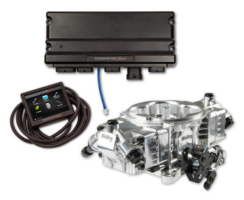 Holley Terminator X Max Stealth 4150 EFI GM LS 24x Shiny w/ Trans Control TBI Kit 550-1028