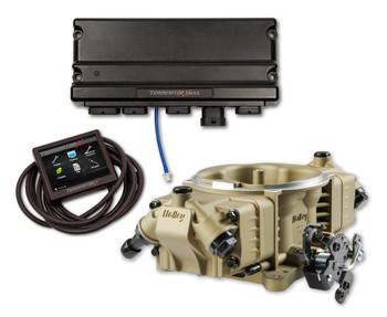Holley Terminator X Max Stealth 4150 EFI GM LS 24x Gold w/ Trans Control TBI Kit 550-1030