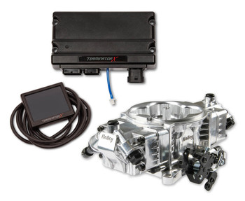 Holley Terminator X Stealth 4150 EFI GM LS 58x Shiny TBI Kit 550-1060