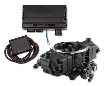Holley Terminator X Stealth 4150 EFI GM LS 58x Black TBI Kit 550-1061
