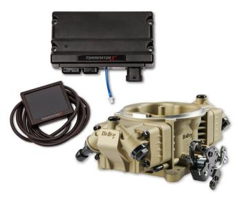 Holley Terminator X Stealth 4150 EFI GM LS 58x Gold TBI Kit 550-1062