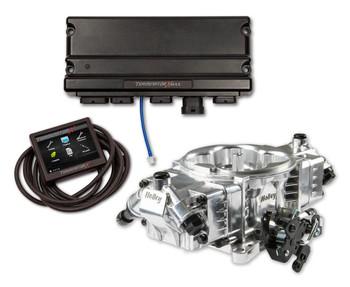 Holley Terminator X Max Stealth 4150 EFI GM LS 58x Shiny w/ Trans Control TBI Kit 550-1063