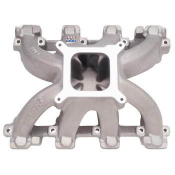 Edelbrock Small Block Chevy Gen III LS1 Carbureted Intake Manifold Single Plane Cathedral Port 28097