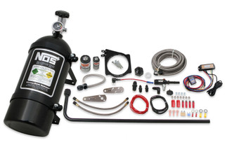 NOS GM LS 4-Bolt 105MM Throttle Plate Wet Nitrous Kit, Black 05173BNOS - Drive By Wire