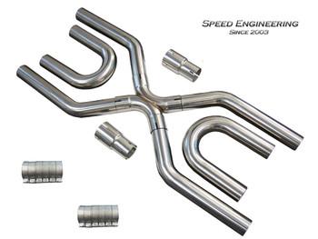 "Speed Engineering LS Swap Universal 2 1/2"" Exhaust X-Pipe Builder Kit 25-1032"