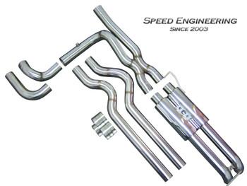 "Speed Engineering 3"" True Dual Exhaust X-Pipe/Axle Dump Muffler Kit for 1999-06 Silverado/Sierra 25-1006+07+04"