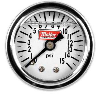 "Mallory Fuel Pressure Gauge 1.5"", 0-15 psi, 29138"