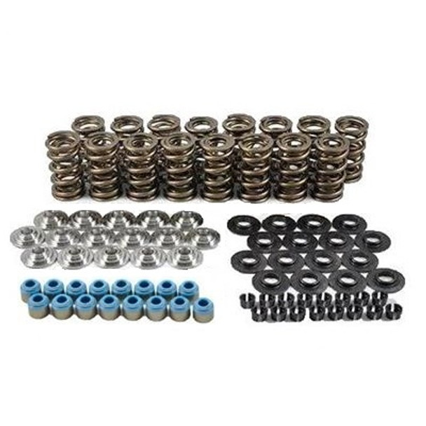 "PAC-KS006 Hotrod Series Dual LS Valve Spring Kit - 1.290"" O.D. x 0.625 Max Lift - Steel Retainers - 7 Degree"