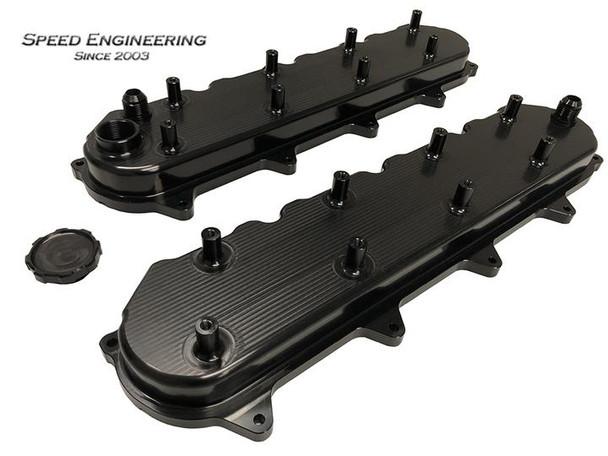Speed Engineering LT Black Valve Covers ( LT1, LT2, LT4) Universal 26-1020BK