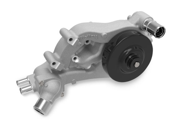 Holley LS Swap Water Pump Forward Facing Inlet Standad Middle Belt Align 22-100