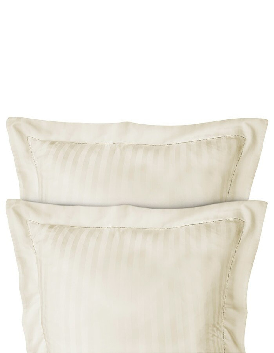 Shown here are our Ivory Pillow Shams.