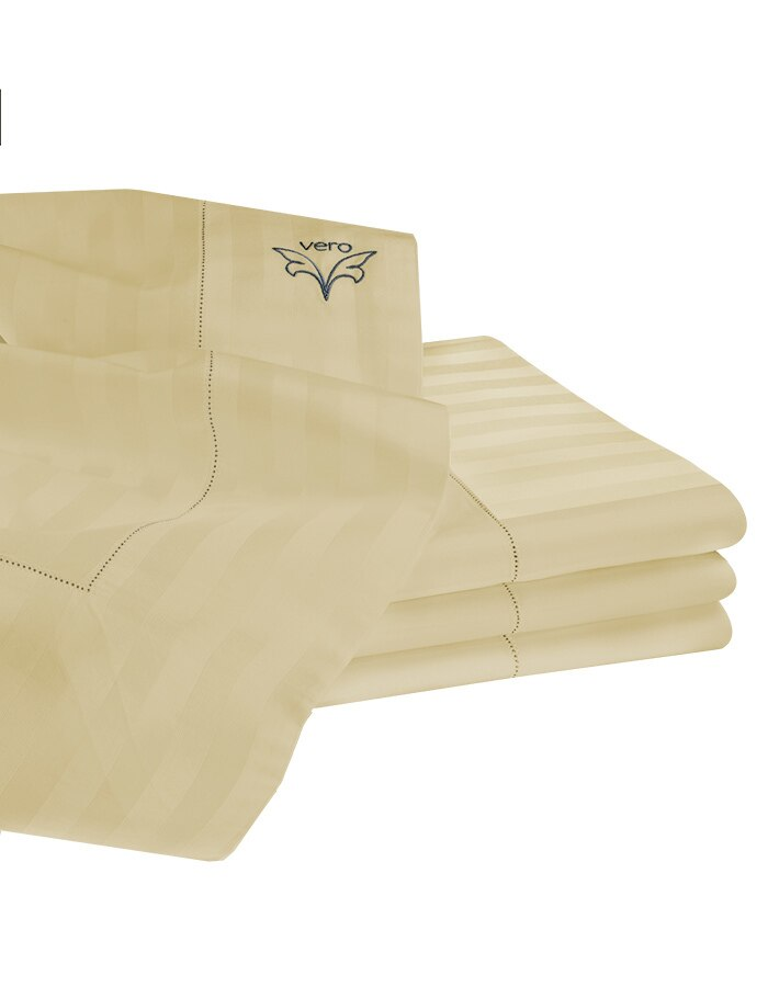 Righetta flat sheets, available in white, ivory and sable (which is a medium to tan color).