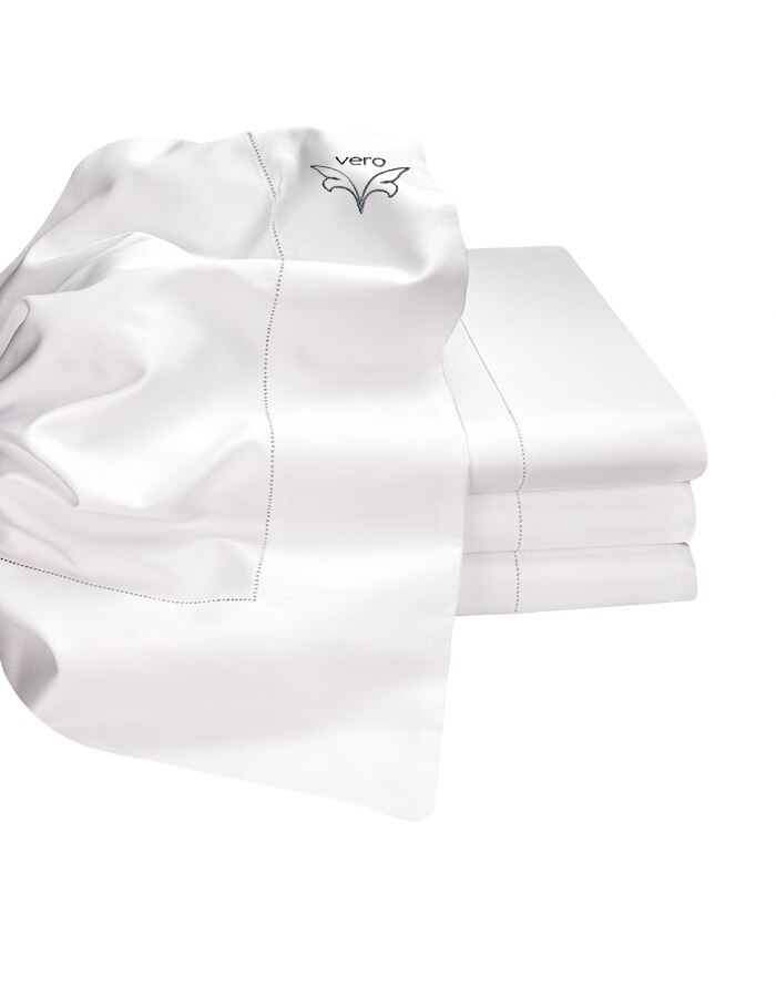 White Super soft generously sized luxury Italian Flat sheets. Woven from Extra-Long Staple Cotton. Generously sized.