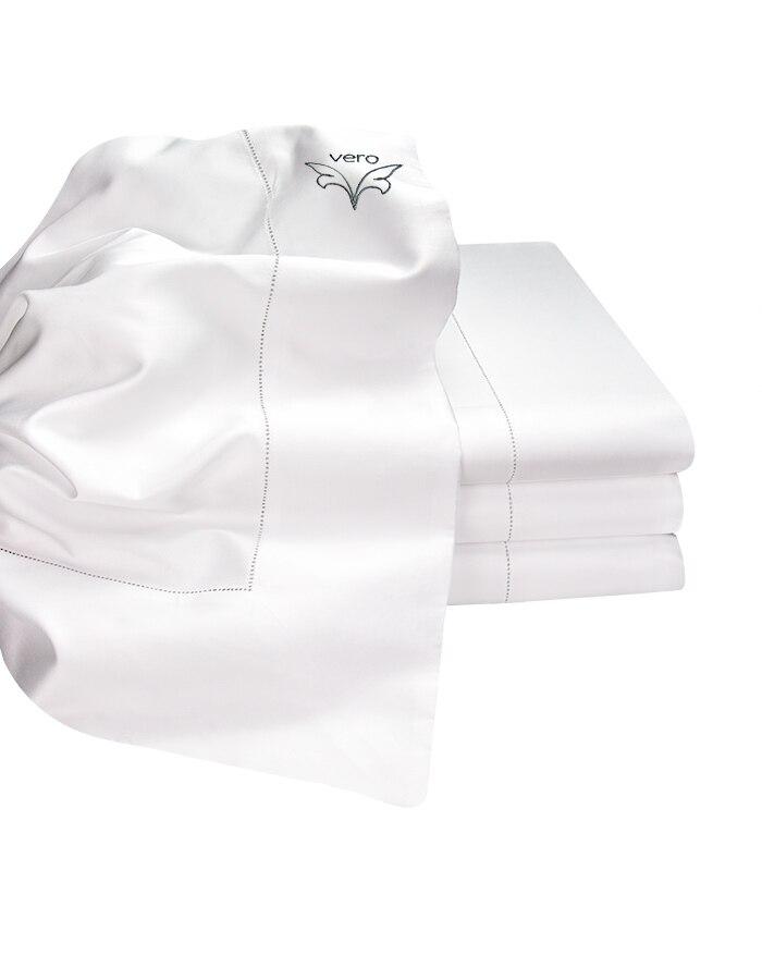 White Super soft generously sized luxury Italian Flat sheets. Woven from Extra-Long Staple Cotton. Generously sized.