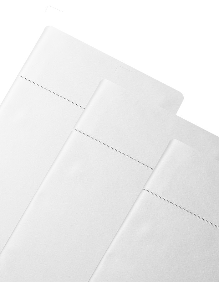Diamante Pillowcases shown in white - Luxury 600 thread count extra long staple cotton.