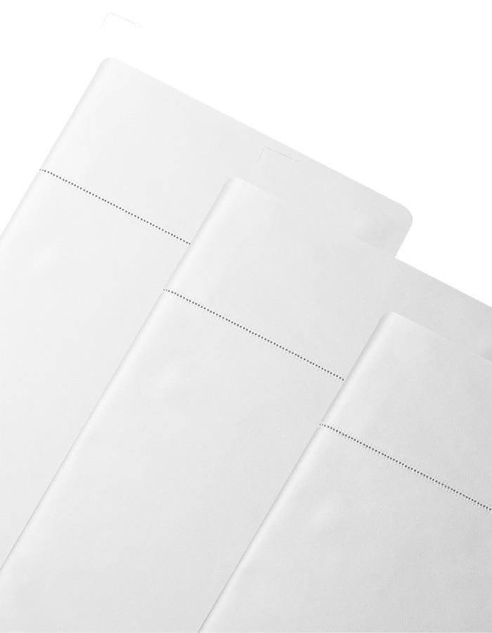 Diamante Pillowcases shown in white - Luxury 600 thread count extra long staple cotton.
