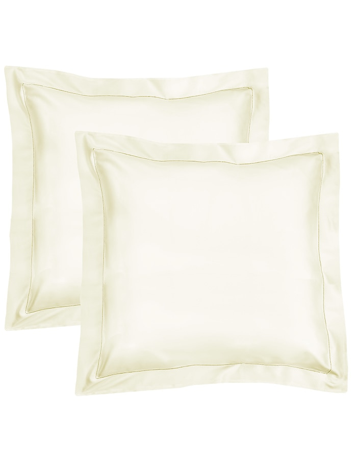Ivory - Pillow shams available in White, Ivory & Sable