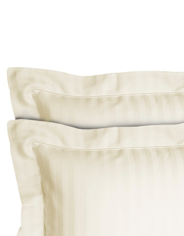 Decorative striped pillow shams, made in Italy.