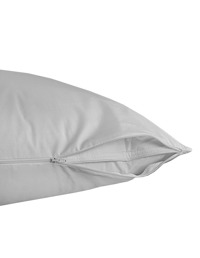 "Our Pillow are a great way to extend the life of your sleeping pillow. Constructed with a zipper closure.  Available in a Standard size 20"" x 26"" or King size 20"" x 36""."