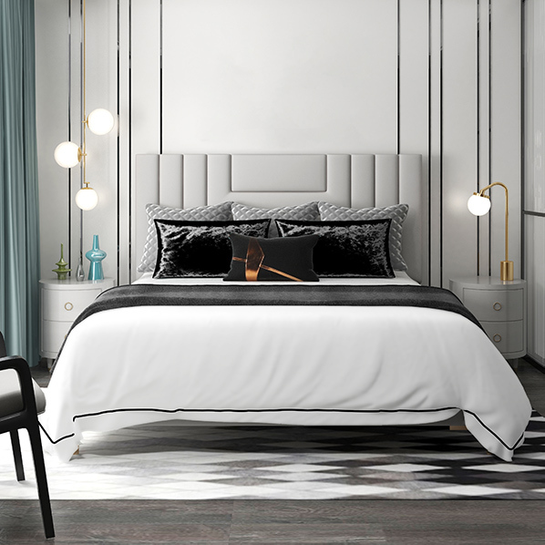 Luxury Percale Flat Sheets, available in King & Queen. Produced from 100% long staple cotton. Flat sheets, pillowcases, shams and duvet covers are available in white with white or white with grey/charcoal embroidery.