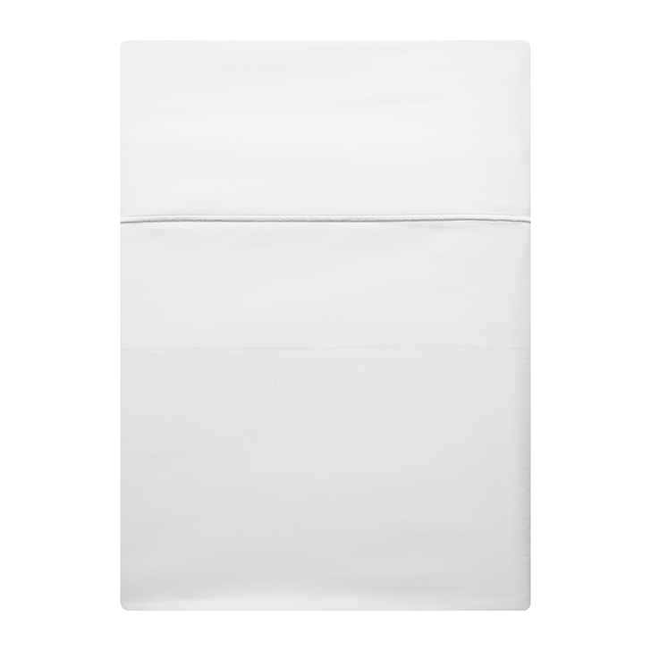 Generously sized luxury 100% cotton percale flat sheets. Sleep in Italy's finest 100% long staple cotton Percale linens.