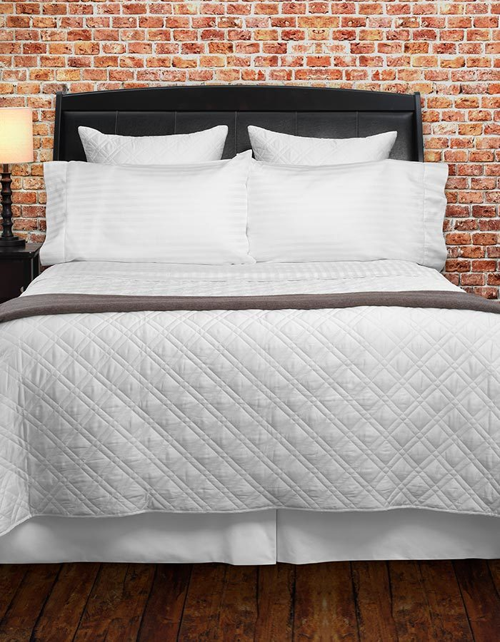 Shown here is our White Sophia Coverlets