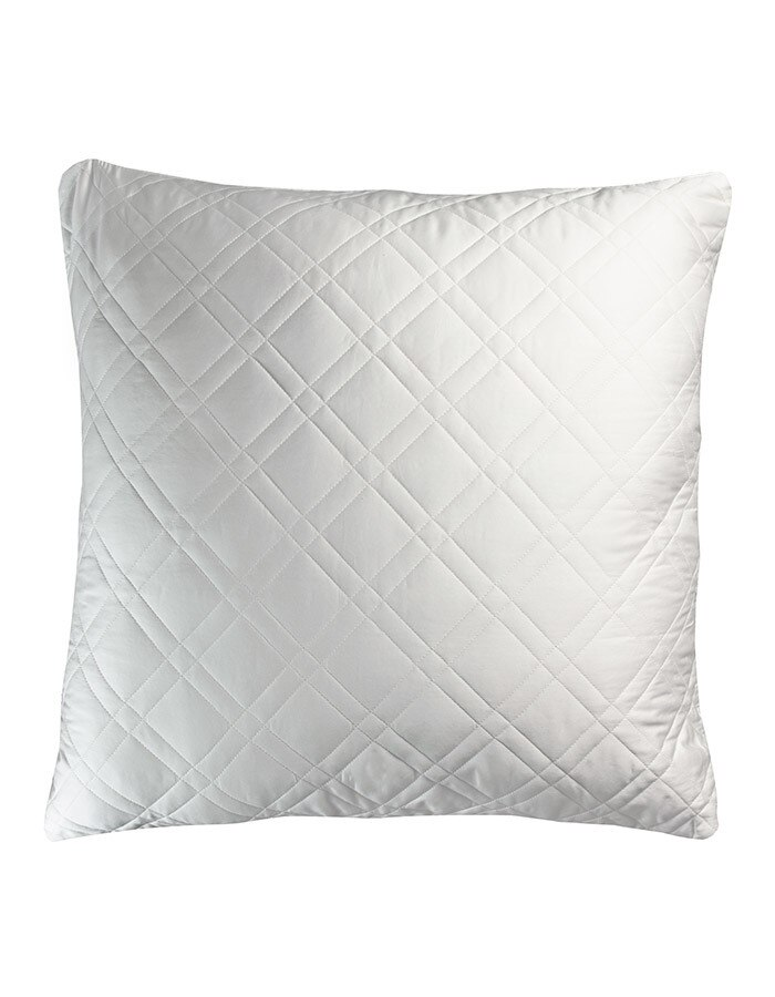 Euro Shams are woven and quilted in Italy. Shown here is our  white Euros sham.