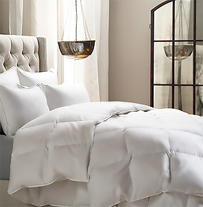 Looking for a lighter weight comforter that isn't as flat as a pancake and still has some loft? Then our summer weight comforter is the perfect choice. Generously sized  comforter is perfect for those warm summer nights where you want just a little over your body. Constructed with a baffle box shell to allow the down to fully loft.