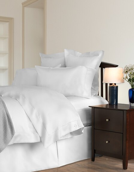 Italian Serena Sateen Sheets, available in King, Queen, Cal-King, Full and Split King sizes.