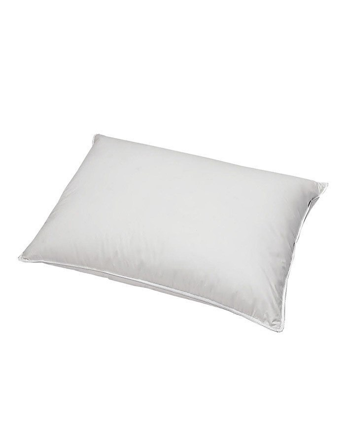 Generously Filled Polyester Sleeping Pillow. Available in Standard and king size. These are perfect for those that have allergies or an aversion to using down.
