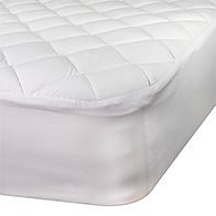 Closeup of our oversized mattress pad