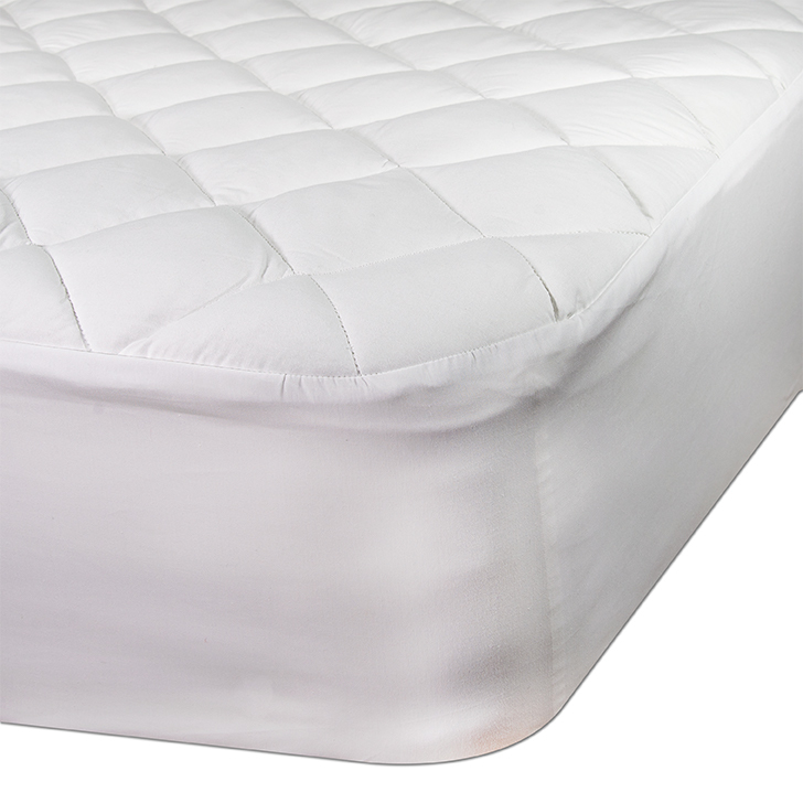 Mattress pad for oversized beds including Alaskan King, Vermont King, Texas King and Wyoming King Beds