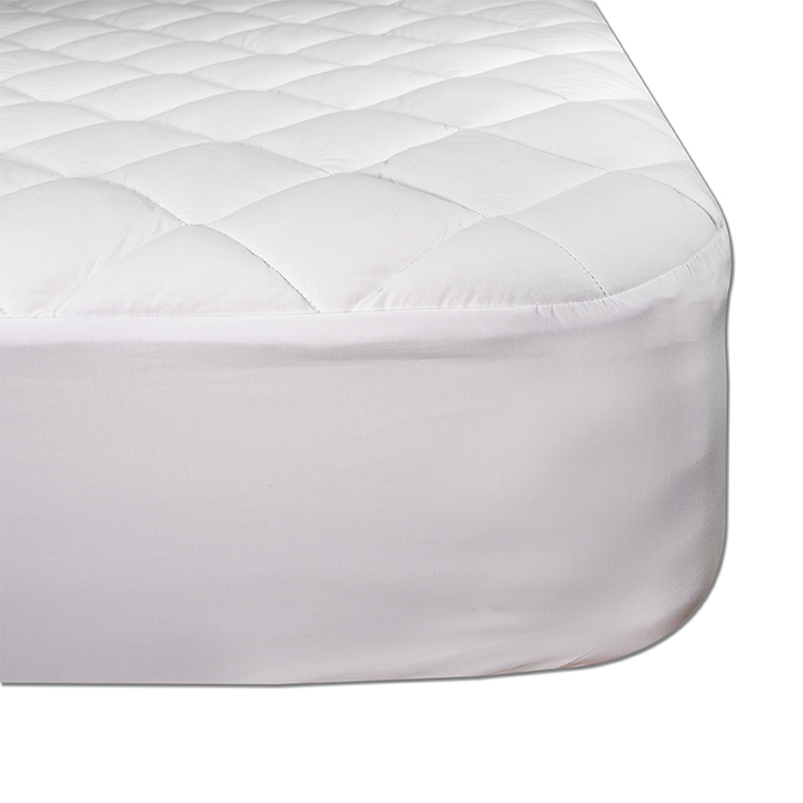 Oversized deep pocket skirted mattress pads for Alaskan KIng Vermont King, Texas King and Wyoming KIng. Custom sizes available as well.