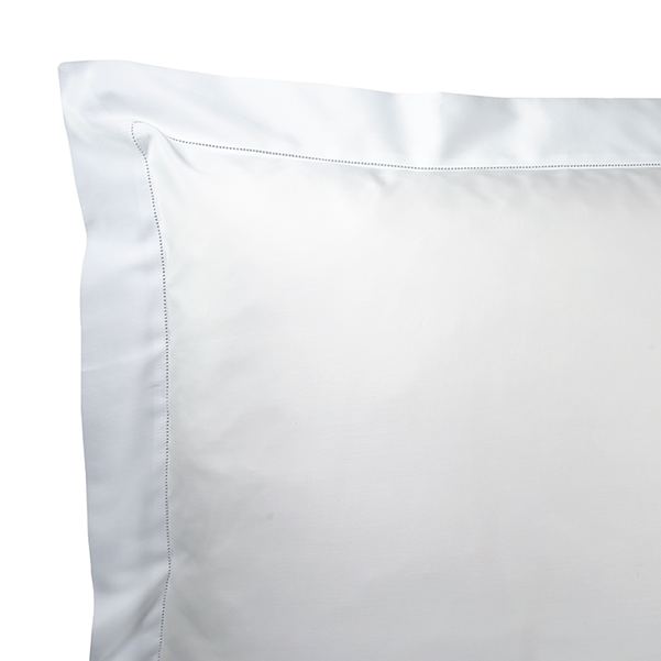 Diamante Sateen Euro sham in white. Available in Euro, King and Standard shams