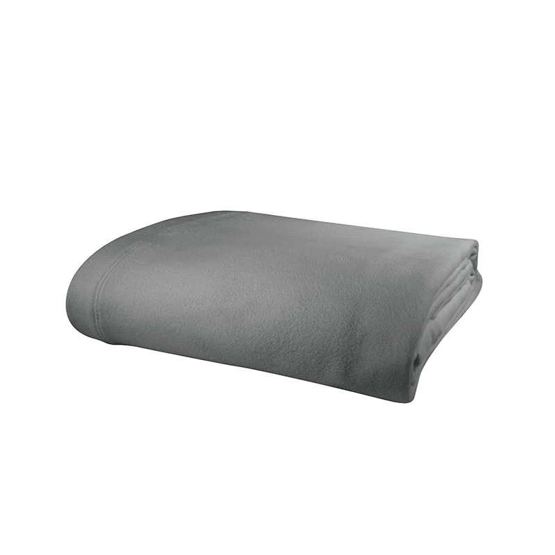 Super soft and cozy warm. Generously sized. Shown here is our Grey Porto Blanket.
