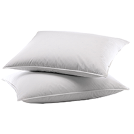Down Feather Compartment sleeping pillows, available in standard & king sizes