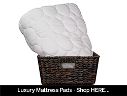 Luxury skirted mattress pads