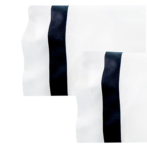 Ava Percale Pillowcases, available in standard & king size