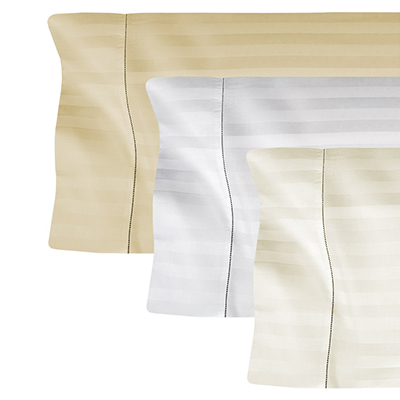 Tone on Tone striped pillowcases, king & standard sizes, sold in pairs