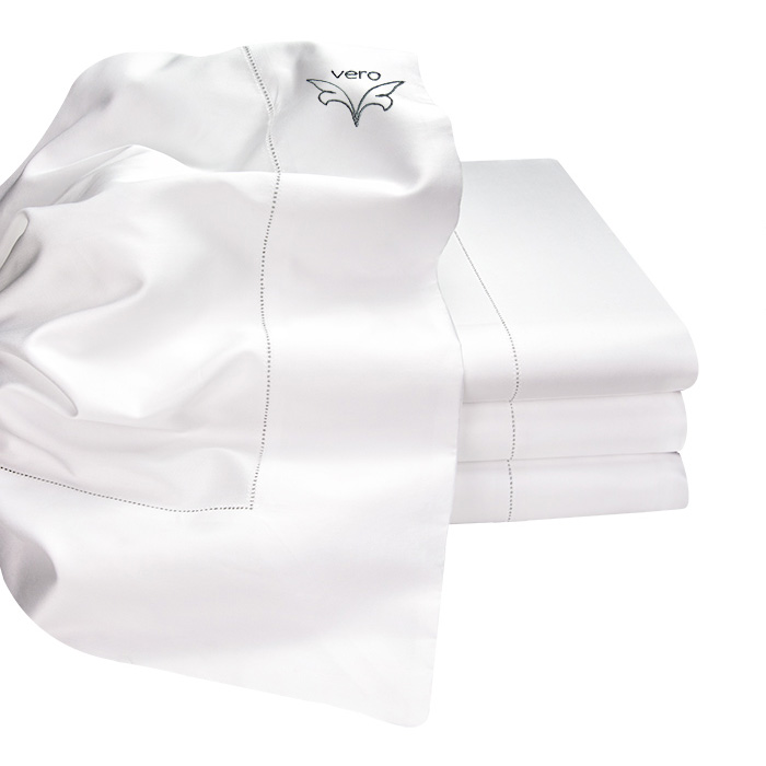 300 Thread Count solid sateen flat sheet